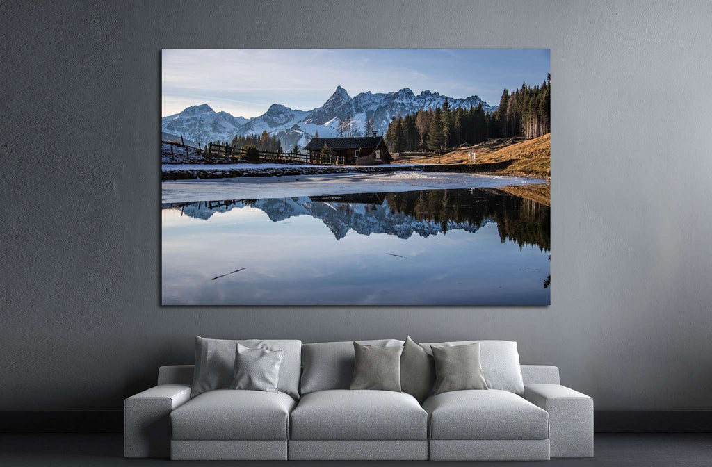 Austria reflection №876 Ready to Hang Canvas Print