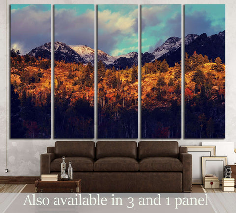 Autumn in Colorado mountains №3136 Ready to Hang Canvas Print