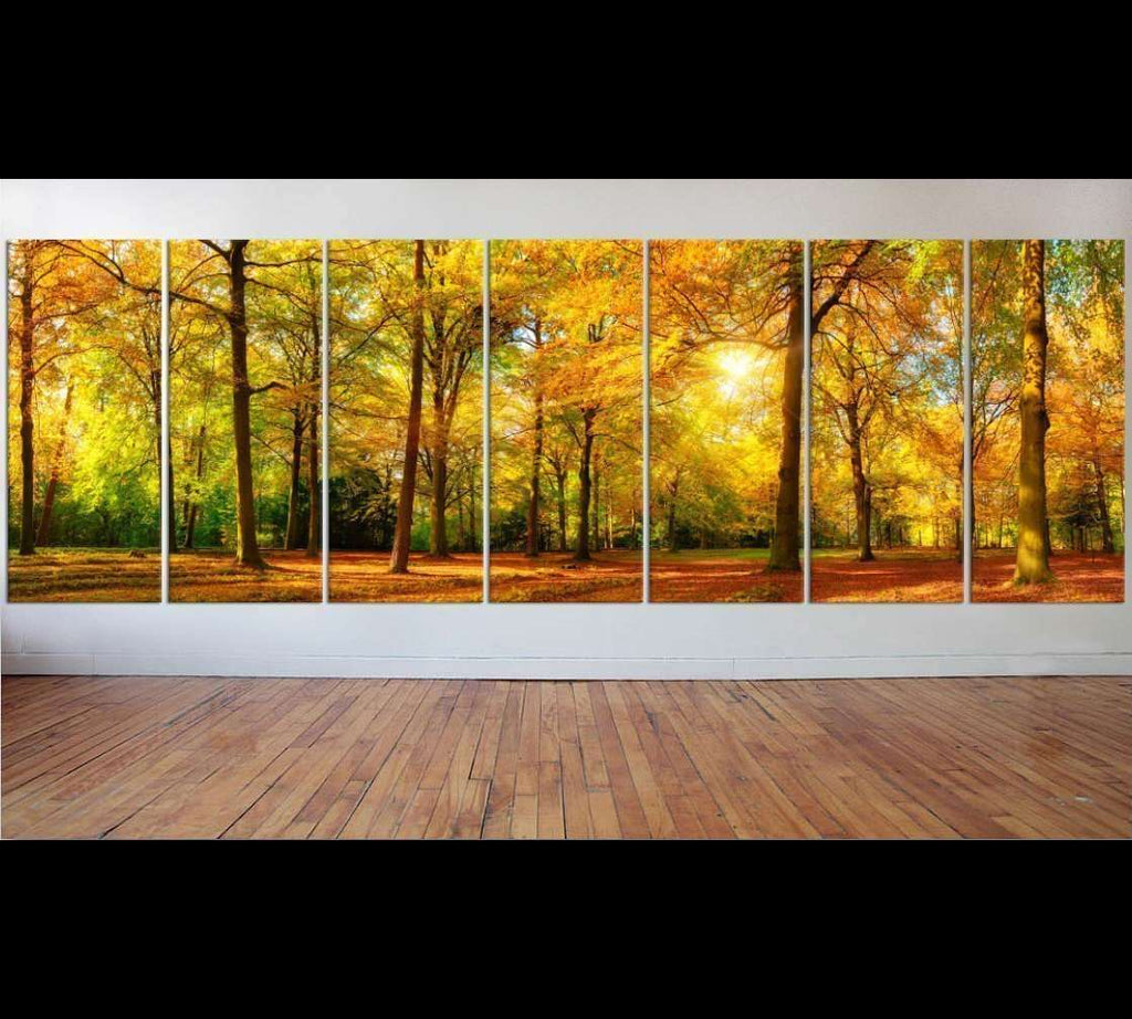 Autumn Landscape Large Wall Art №46 Ready to Hang Canvas Print – Zellart