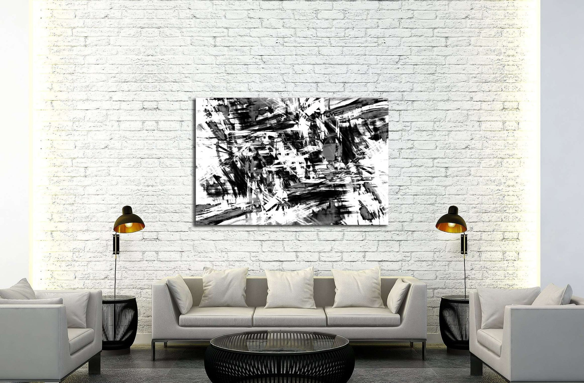 background in the style of old grunge graphics №3266 Ready to Hang Canvas Print