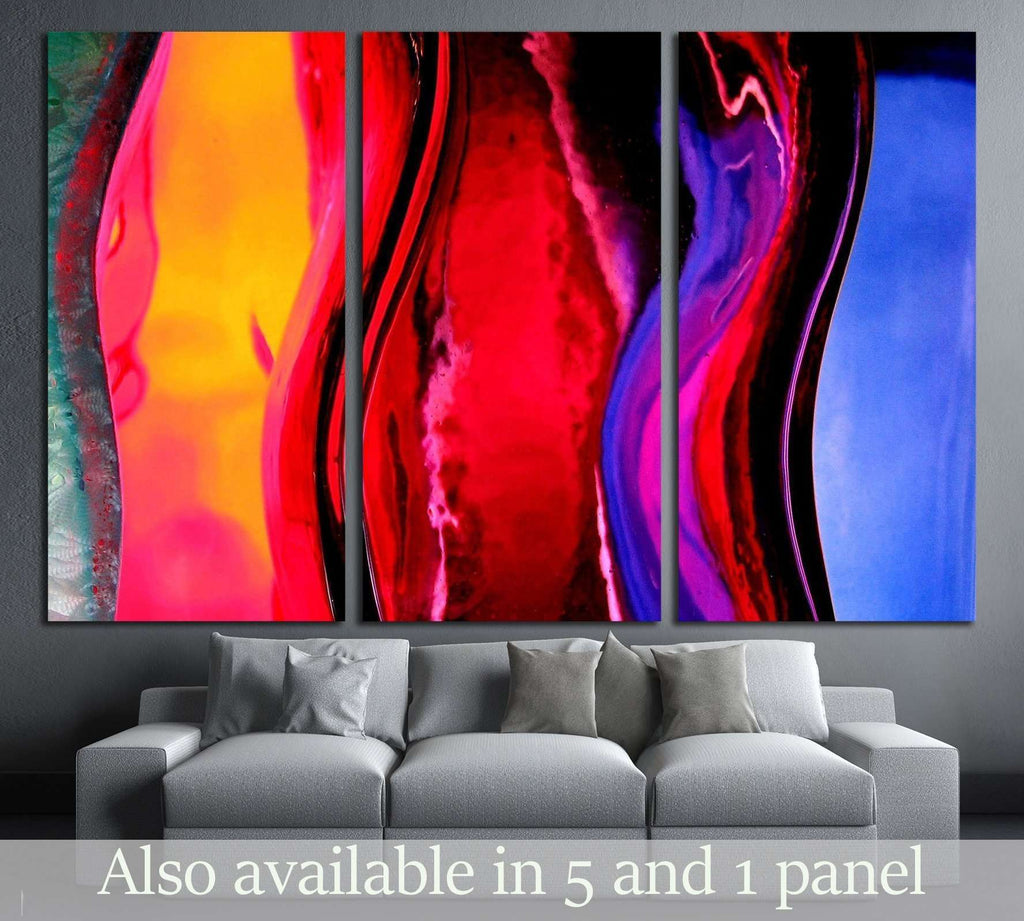 Background.Close Different Color Oil Paint Stock Photo №2529 Ready to Hang Canvas Print