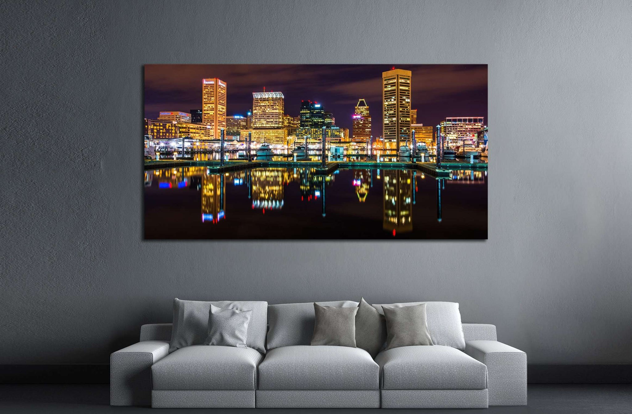 Baltimore, Maryland №2161 Ready to Hang Canvas Print
