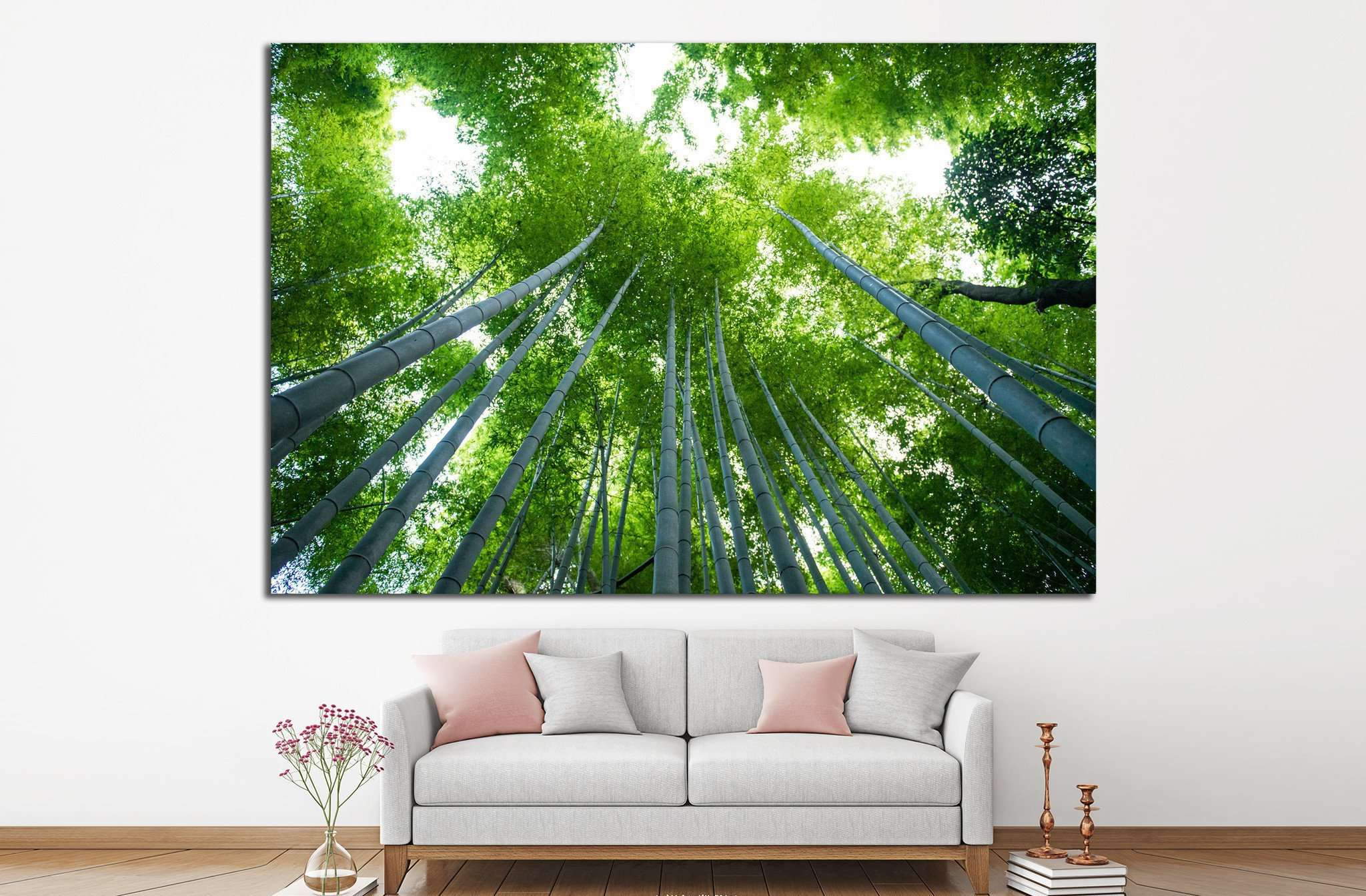 Bamboo forest, Kyoto, Japan №18 Ready to Hang Canvas Print