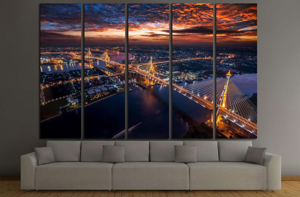 Bangkok City №802 Ready to Hang Canvas Print