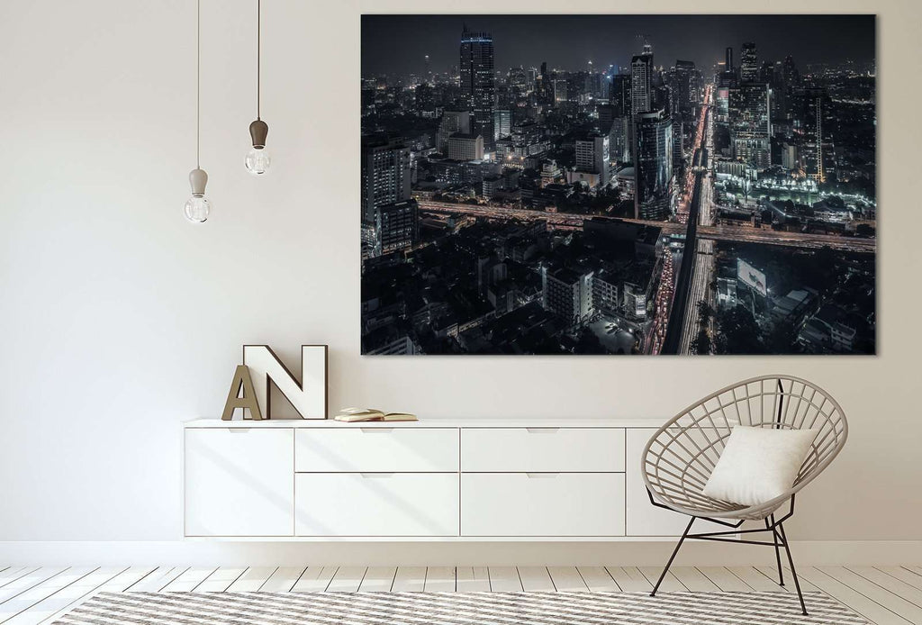 Bangkok Downtown №3015 Ready to Hang Canvas Print