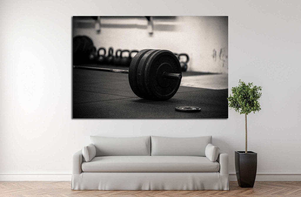 Barbell №1466 Ready to Hang Canvas Print
