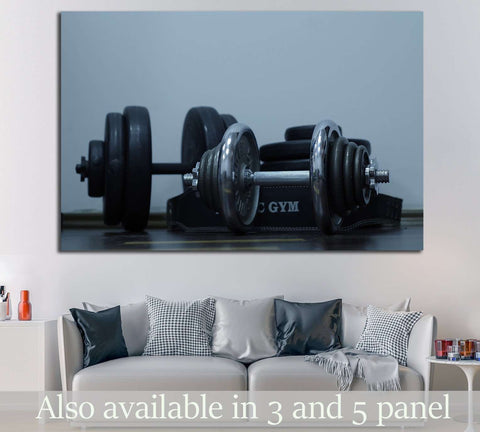 Barbells №1468 Ready to Hang Canvas Print