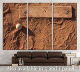 Baseball on the Pitchers Mound with room for copy №2120 Ready to Hang Canvas Print