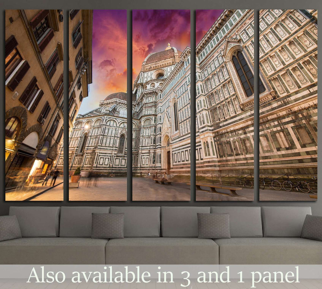 Basilica of Saint Mary of the Flower in Florence, Italy №1787 Ready to Hang Canvas Print