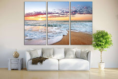 Beach Print №751 Framed Canvas Print