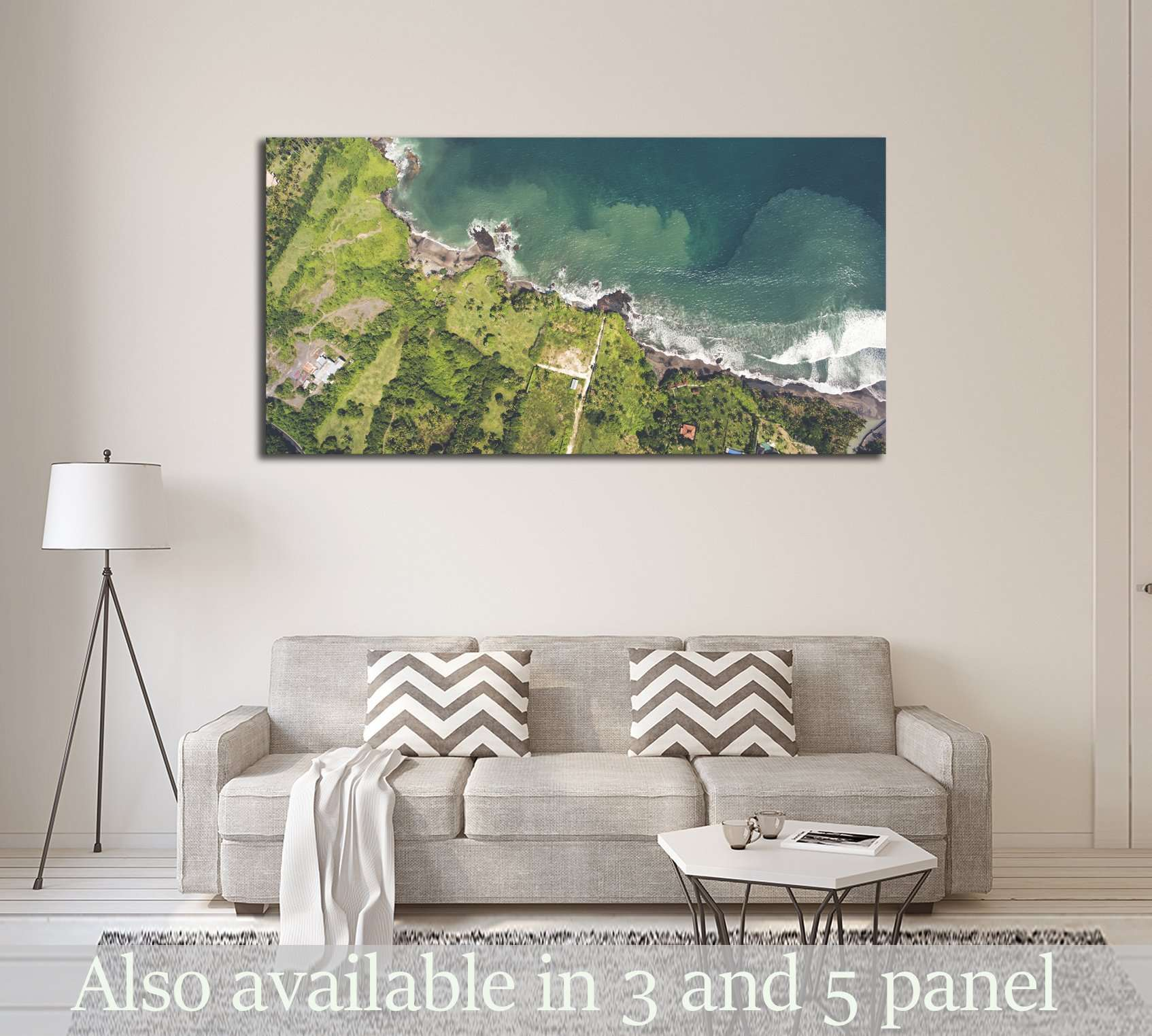 Beautiful Asian seascape №2918 Ready to Hang Canvas Print