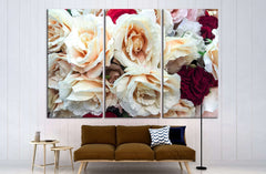 beautiful colorful roses, wedding decorations №2575 Ready to Hang Canvas Print