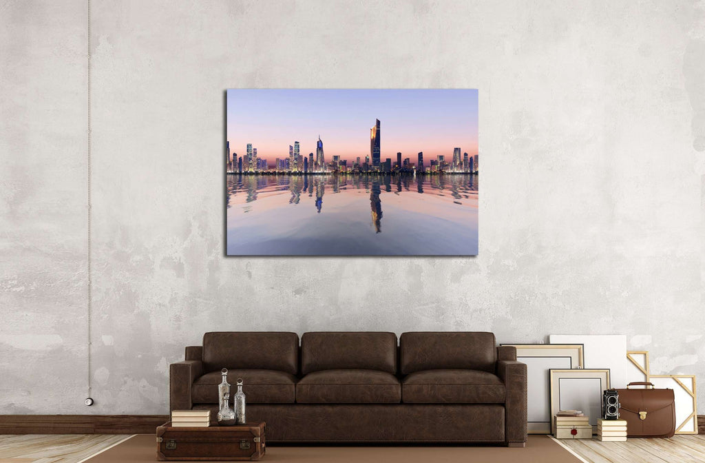 beautiful dawn view of kuwait cityscape №2327 Ready to Hang Canvas Print