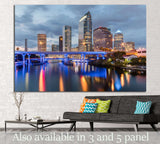 Beautiful downtown Tampa Florida at twilight №1220 Ready to Hang Canvas Print