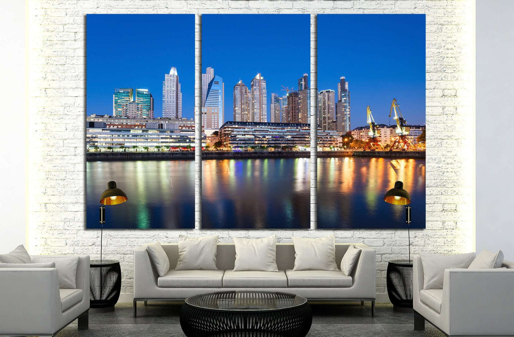 Beautiful downtown Tampa Florida at twilight №1221 Ready to Hang Canvas Print