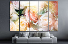 beautiful flowers made with color filters №1356 Ready to Hang Canvas Print