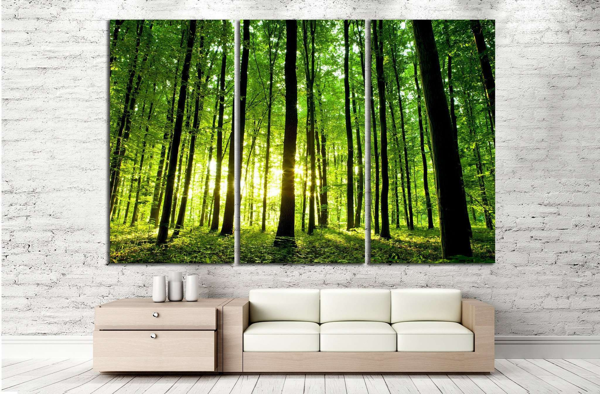 Beautiful green forest №20 Ready to Hang Canvas Print