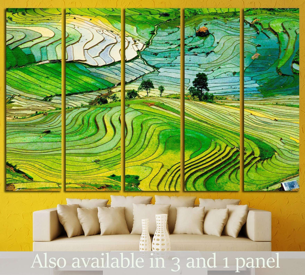 Beautiful landscape in Laocai province, Vietnam №1417 Ready to Hang Canvas Print