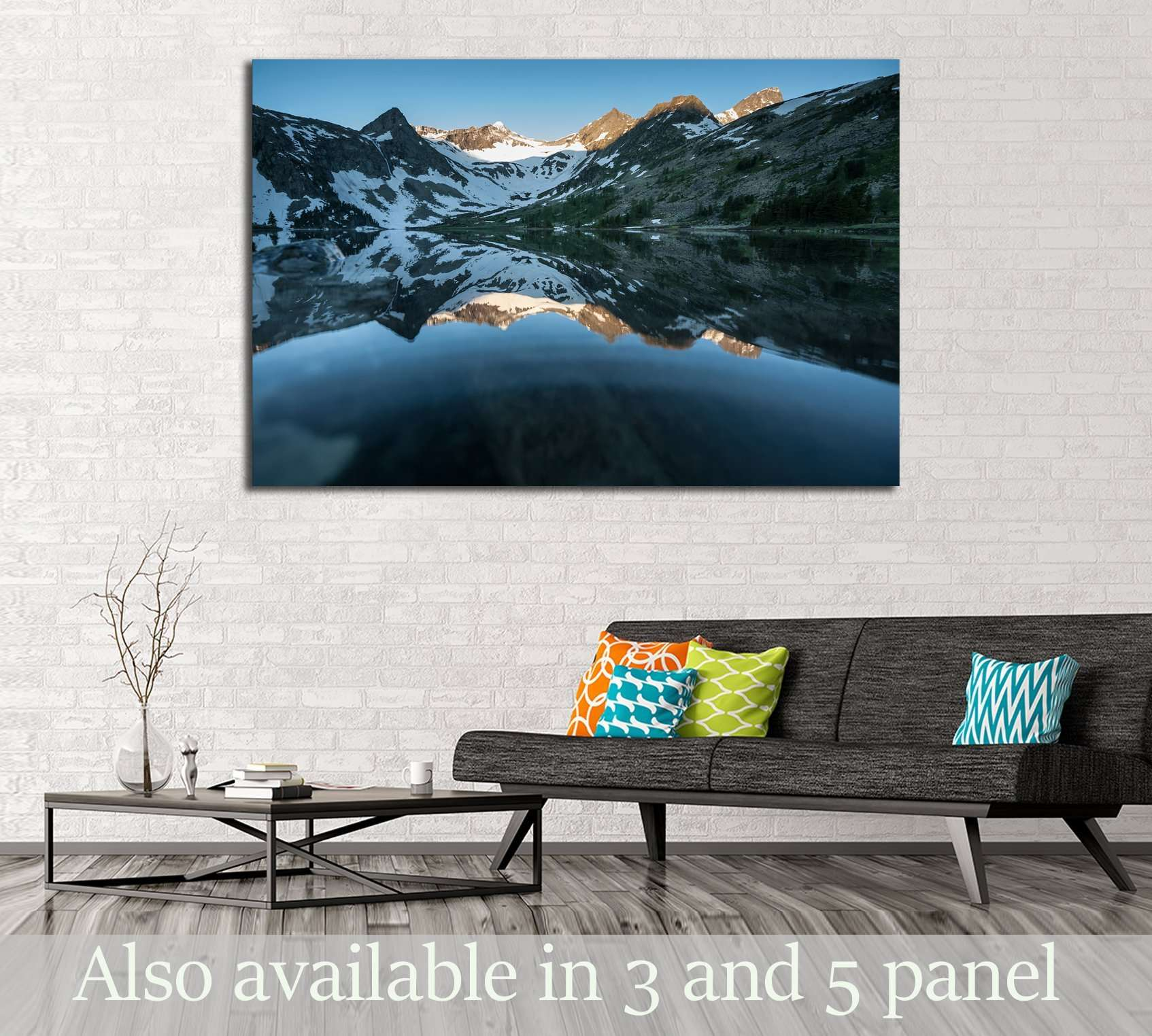 Beautiful landscape of Altai mountains №2852 Ready to Hang Canvas Print
