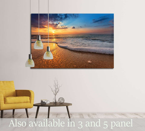 Beautiful natural seascape №3185 Ready to Hang Canvas Print