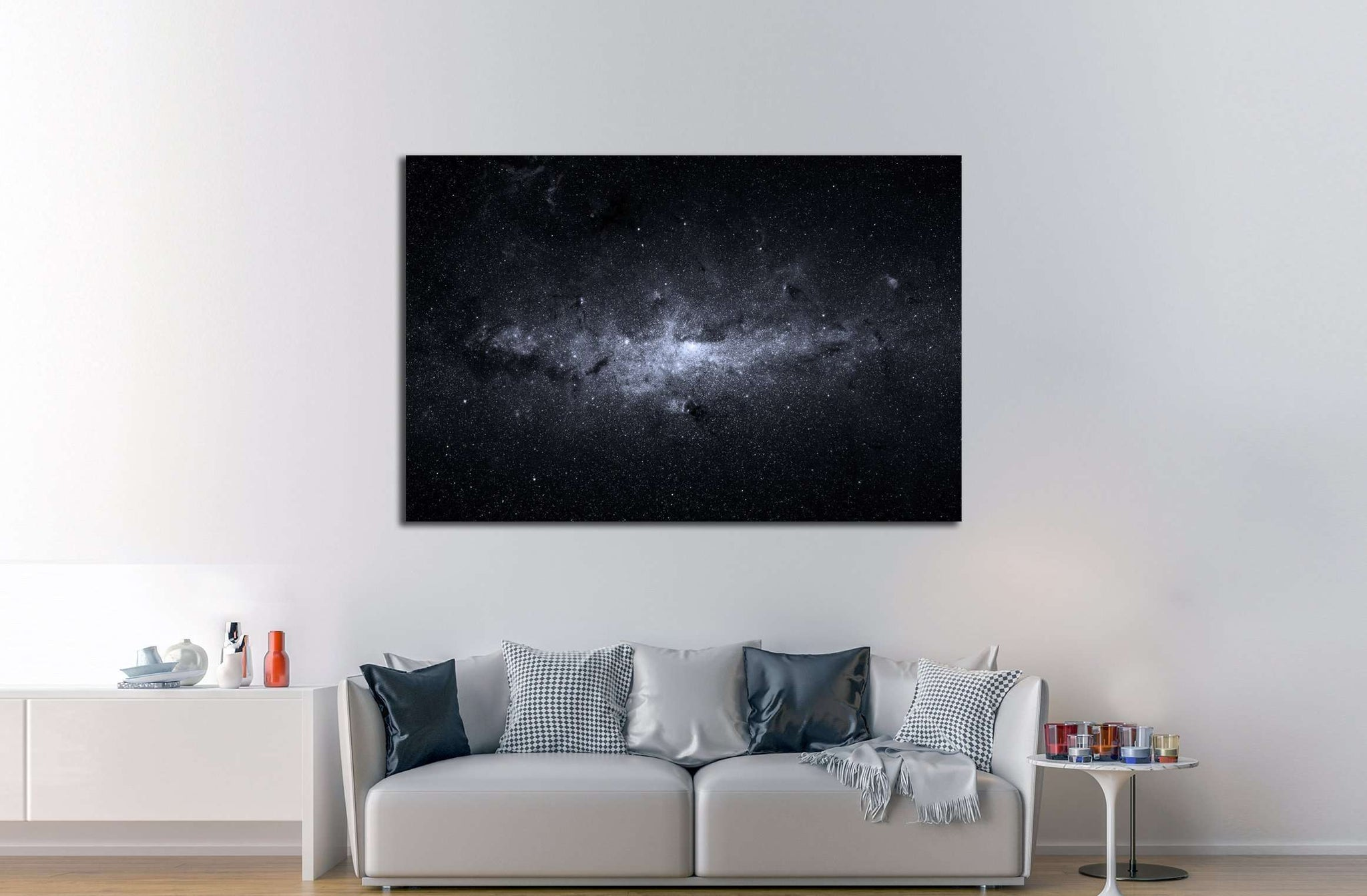 Beautiful night sky. Elements of this image furnished by NASA №2452 Ready to Hang Canvas Print
