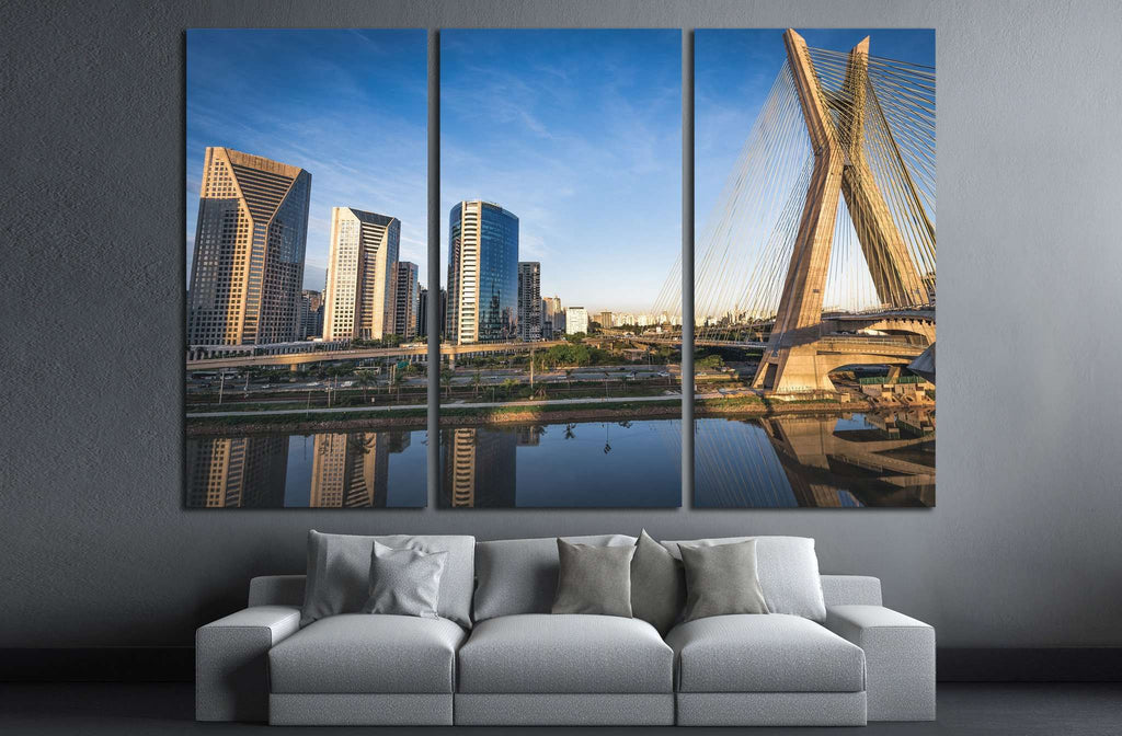 Beautiful Sao Paulo Landmark, Brazil №1247 Ready to Hang Canvas Print