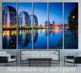 Beautiful skyline of Salford Quays Manchester №2046 Ready to Hang Canvas Print