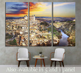 beautiful sunset over old Toledo, Spain №1694 Ready to Hang Canvas Print