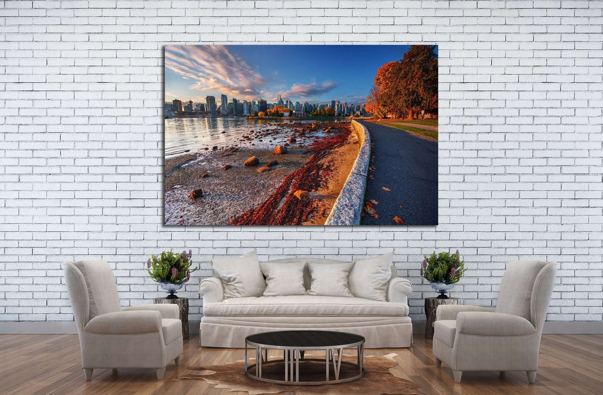 Beautiful Vancouver №2182 Ready to Hang Canvas Print