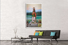 Beer №3416 Framed Canvas Print