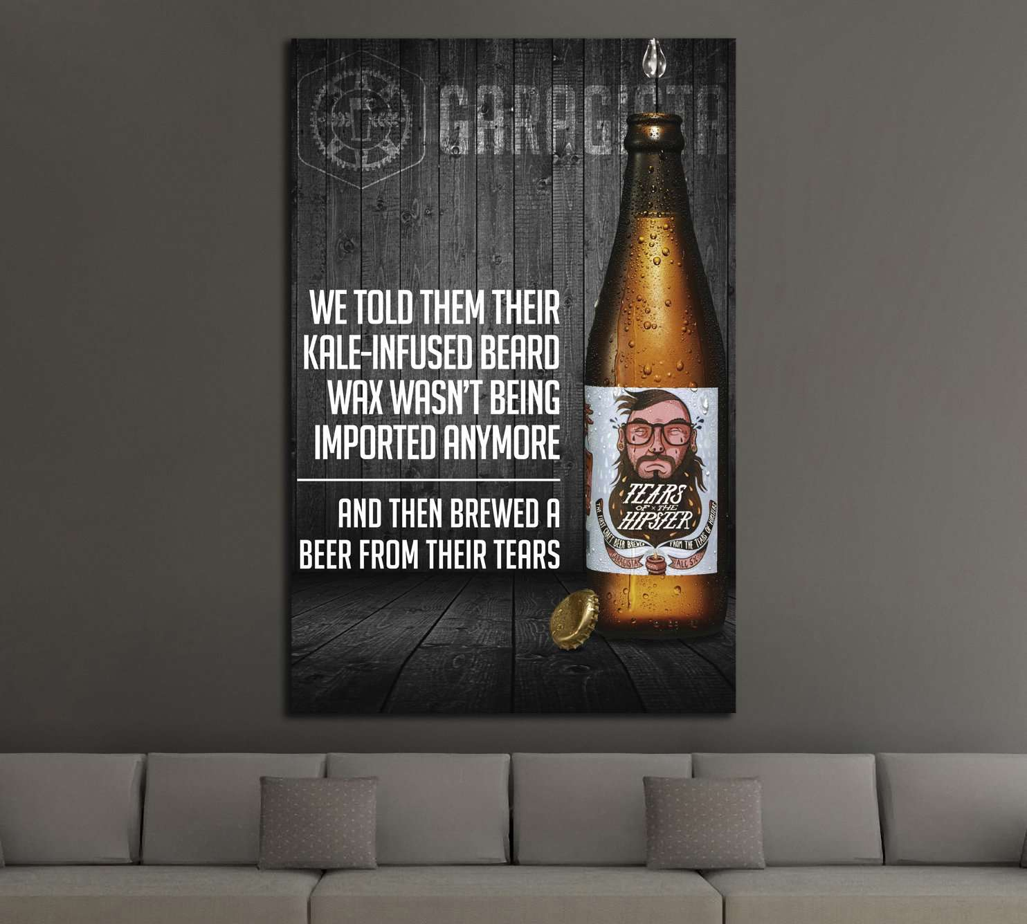 Beer №3430 Ready to Hang Canvas Print