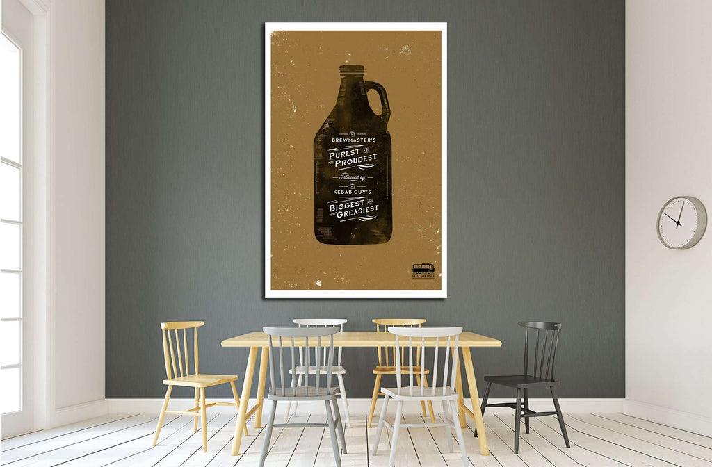 Beer №3431 Ready to Hang Canvas Print
