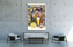 Beer №3432 Ready to Hang Canvas Print