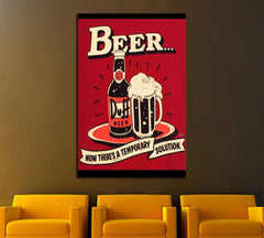 Beer №3433 Ready to Hang Canvas Print