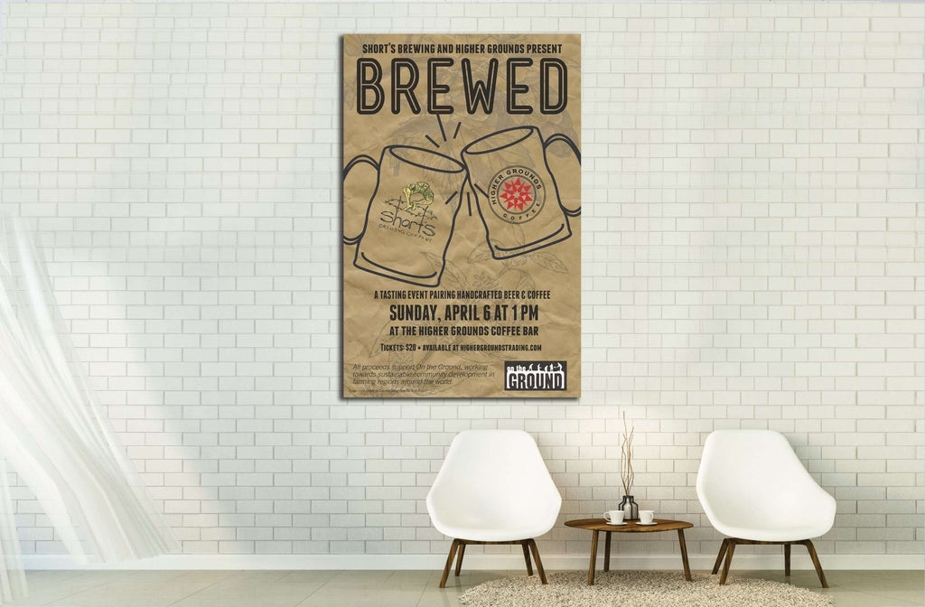 beer №3446 Ready to Hang Canvas Print