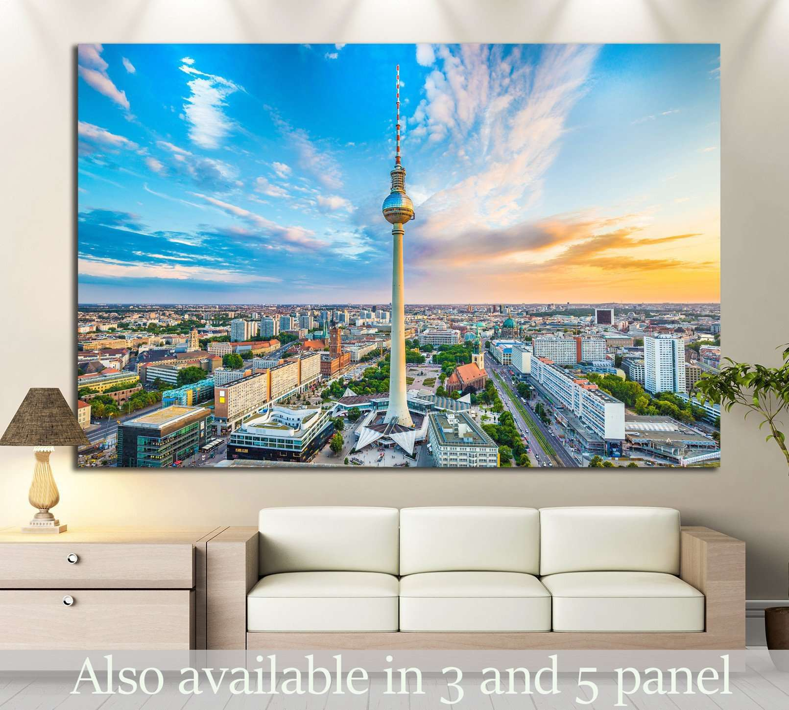 Berlin at sunset, Germany №1182 Ready to Hang Canvas Print