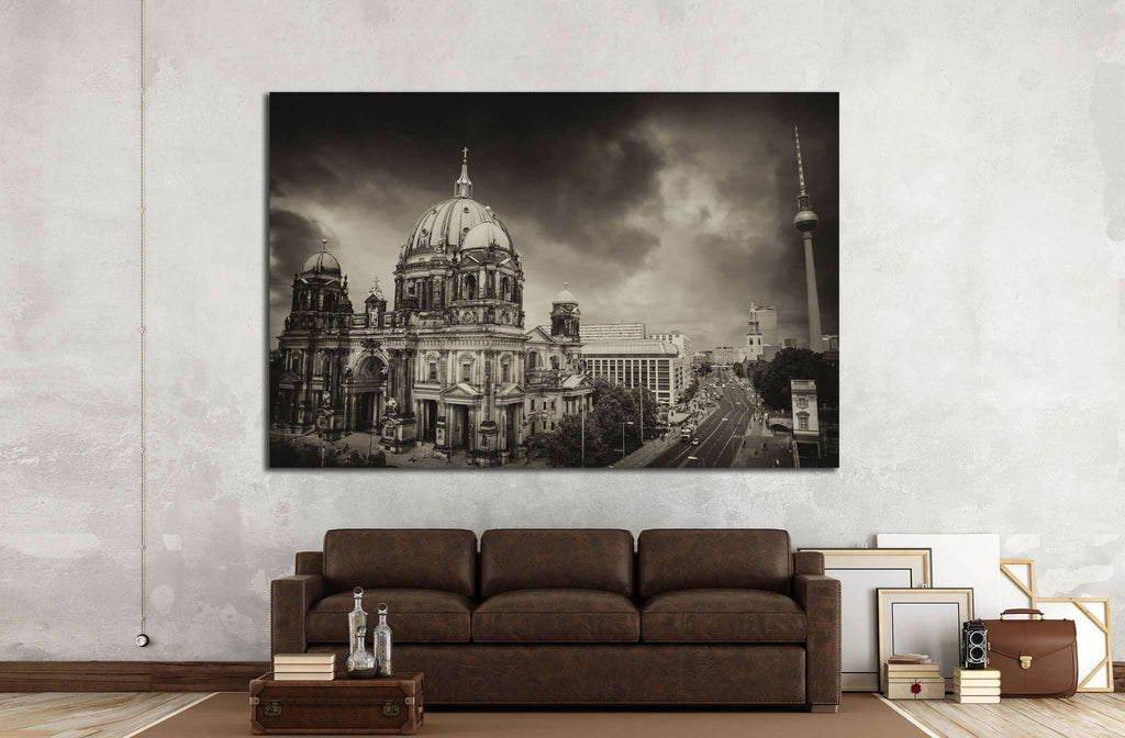 Berlin Cathedral and Alexander Platz, Germany №1164 Ready to Hang Canvas Print