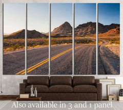 beutiful stretch of historic route 66 №2106 Ready to Hang Canvas Print