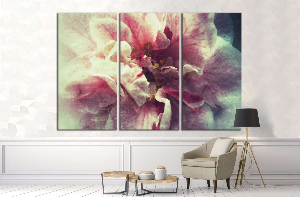 Bi-colored camellia №2550 Ready to Hang Canvas Print