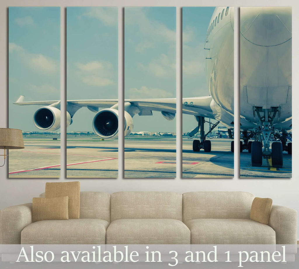Big Airplane №141 Ready to Hang Canvas Print
