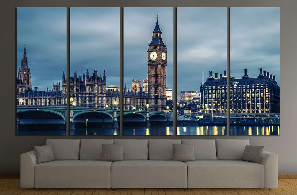 Big Ben and House of Parliament №2711 Ready to Hang Canvas Print