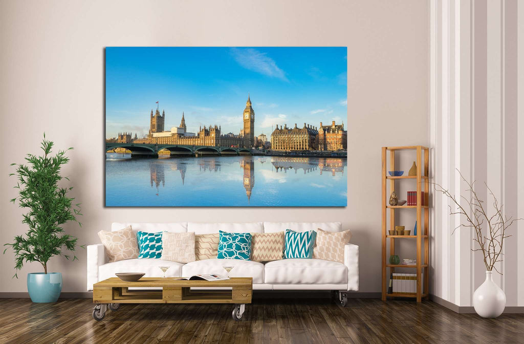 Big Ben and Westminster parliament №1263 Ready to Hang Canvas Print