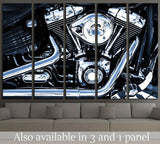 Bike Engine №527 Ready to Hang Canvas Print
