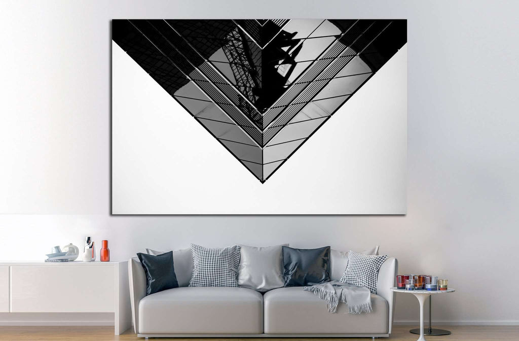 Black and White Commercial buildings ?1053 Ready to Hang Canvas Print & Black and White Commercial buildings ?1053 Ready to Hang Canvas ...