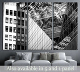 Black and White images of Commercial buildings №1581 Ready to Hang Canvas Print