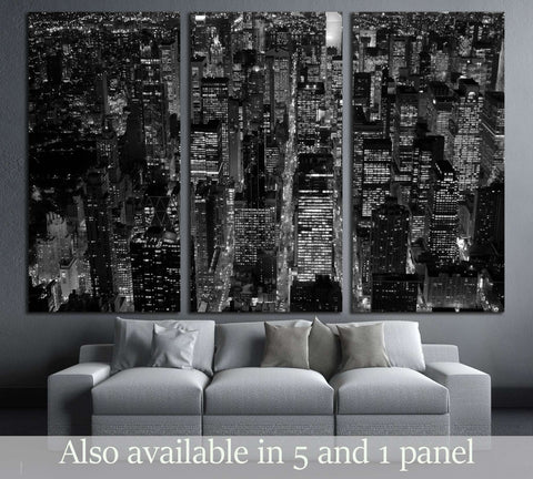 Black And White Scene Of New York City Skyline Cityscape Background №3047  Ready To Hang