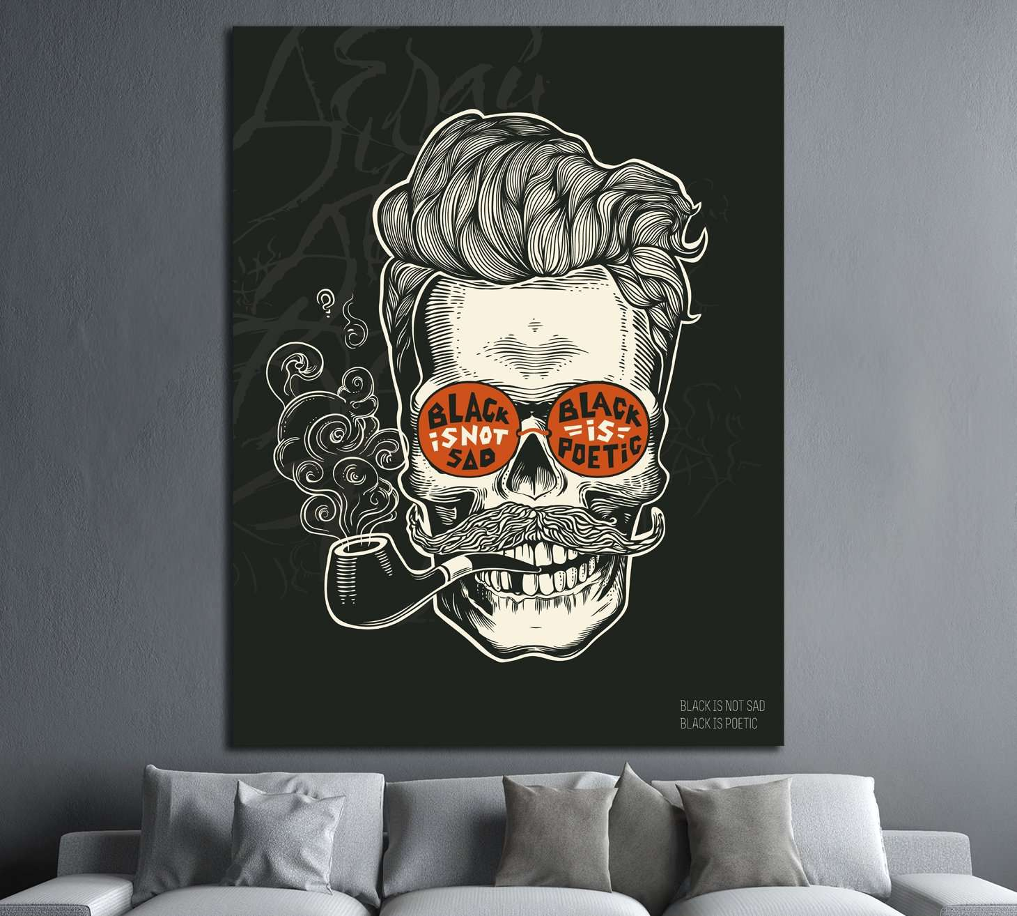black is not sad №4584 Ready to Hang Canvas Print