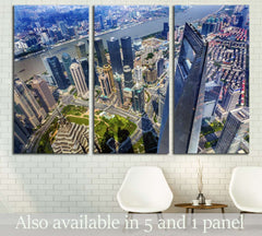 Black Shanghai World Financial Center, China №1553 Ready to Hang Canvas Print