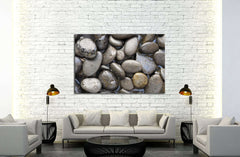 Black Stone Background №3063 Ready to Hang Canvas Print