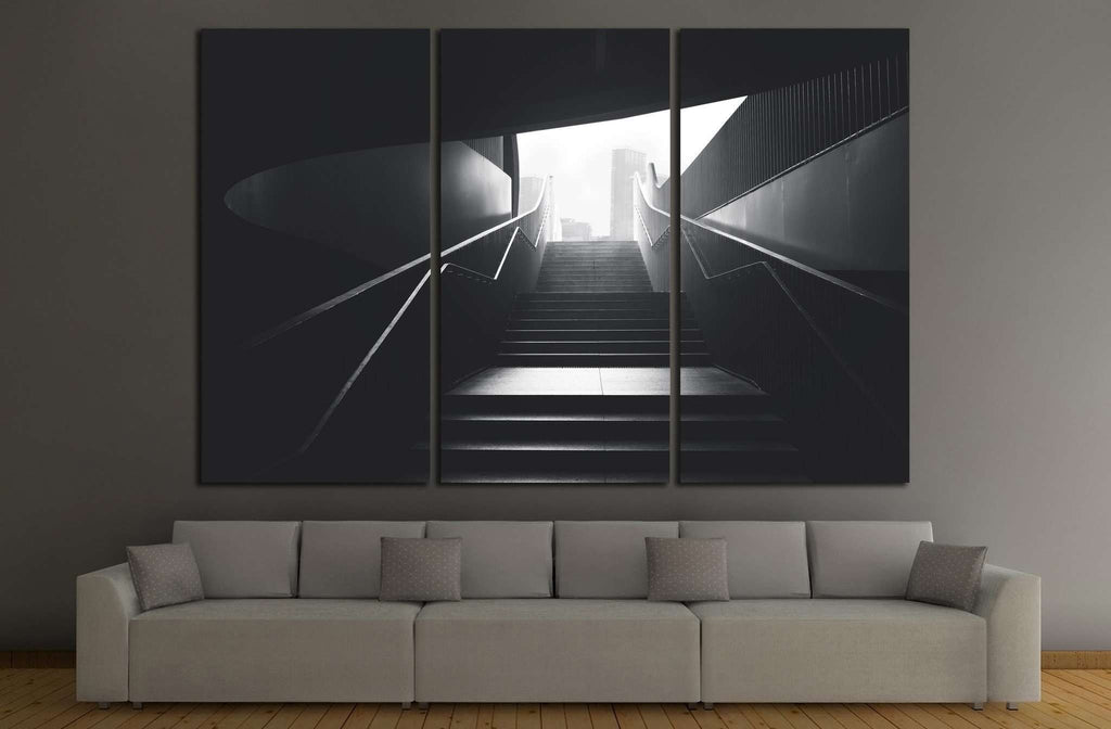 black urban stairs №1061 Ready to Hang Canvas Print